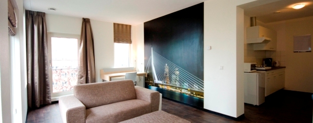 Studio a short stay stadswonen for Studio appartement rotterdam